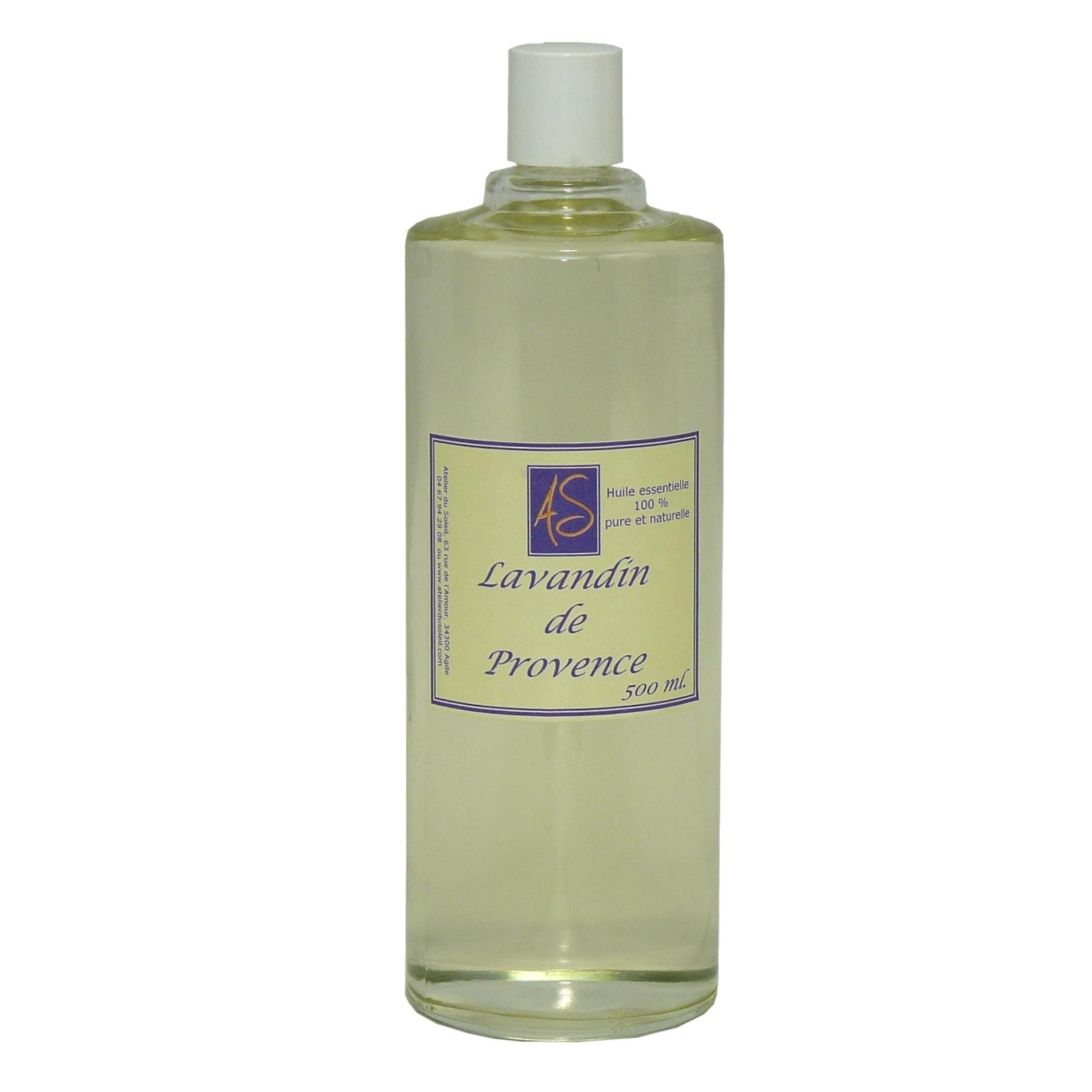 Huile essentielle de lavandin demi litre conomique - Huile essentielle desinfectant linge ...