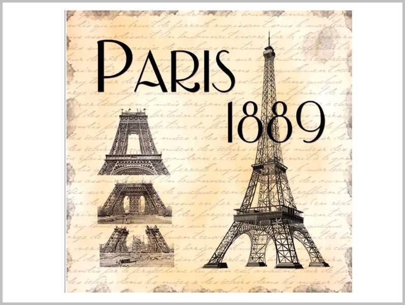DESSOUS DE PLAT PARIS 1889