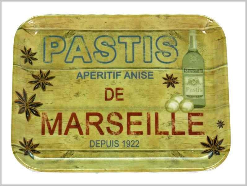 PLATEAU VIDE-POCHES PASTIS DE MARSEILLE
