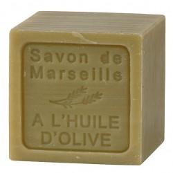 SAVON DE MARSEILLE A L'HUILE D'OLIVE CUBE 300 GR.