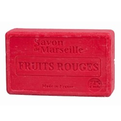 SAVON DE MARSEILLE AUX FRUITS ROUGES -100 GR.