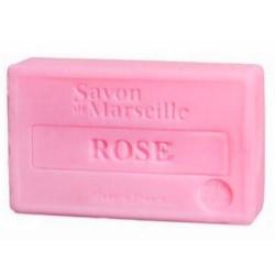 SAVON DE MARSEILLE PARFUM ROSE -100 GR.