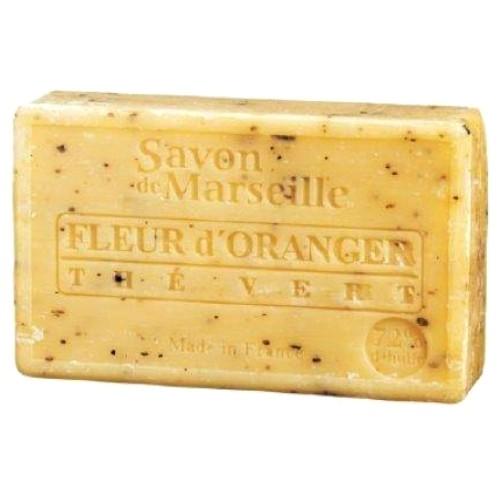 SAVON DE MARSEILLE FLEUR D'ORANGER-THE VERT-100 GR.