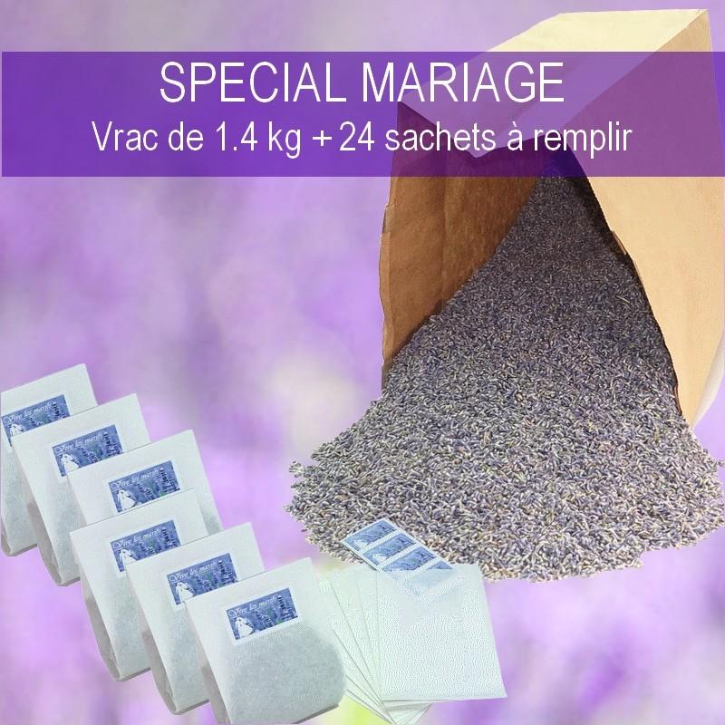 1.4 KG FLEURS DE LAVANDE BLEU SPECIAL MARIAGE