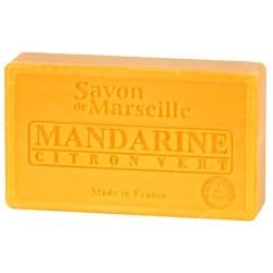 SAVON DE MARSEILLE MANDARINE-CITRON VERT-100GR