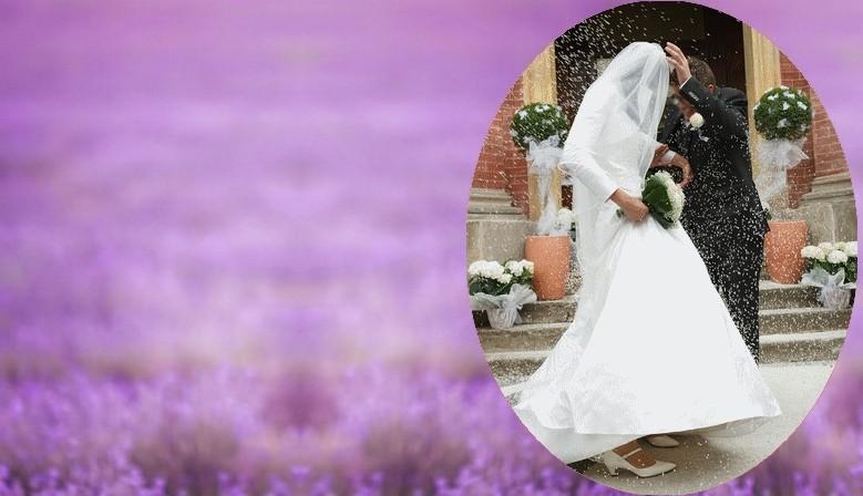 Lavande à lancer pour sortie de mariage